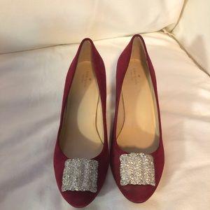 Kate Spade Dark Maroon heels